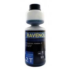Масло RAVENOL 2T (1л) смеш. мин. дозатор (1/50)