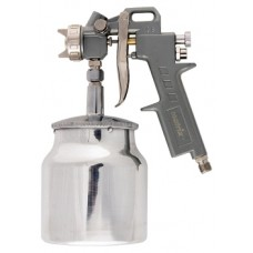 Краскораспылитель пневмат. с нижним бачком V=1,0 л + сопла диаметром 1.2, 1.5 и 1.8 мм MATRIX