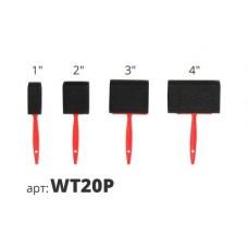 кисть поролоновая с пластиковой ручкой набор (4шт) WT20P