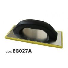 кельма прямоугольная с губкой желтой плотной структуры EG027A