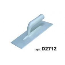 кельма белая пластиковая прямоугольная D2712